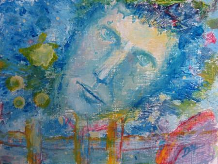Blu - Oil Painting on HDF by artist Darko Topalski
