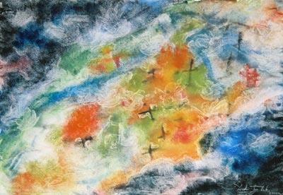 Dance Macabre watercolor painting by artist Darko Topalski