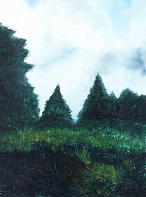 Hidden in Green - Oil Painting on HDF by artist Darko Topalski