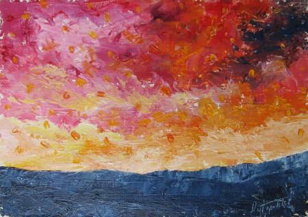 il Paesaggio - Oil Painting on HDF by artist Darko Topalski