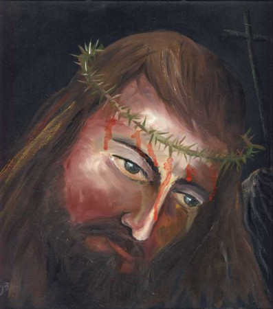 Jesus (JHVH) - Oil Painting on HDF by artist Darko Topalski