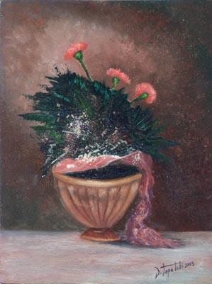 An Arrangement - Oil Painting on HDF by artist Darko Topalski