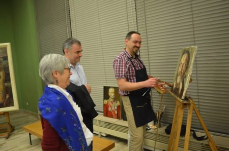 may 21-2016-Darko Topalski- Paints live copy of the old masters paintings at the PAVLE BELJANSKI MEMORIAL - Novi Sad - Serbia