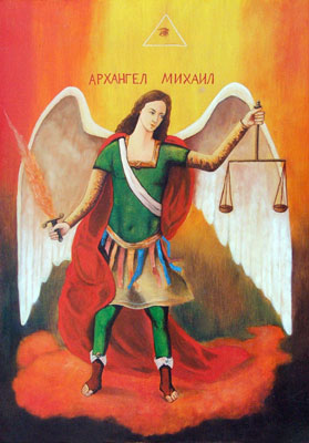 Arch. Mihail - Orthodox Icon by artist Darko Topalski