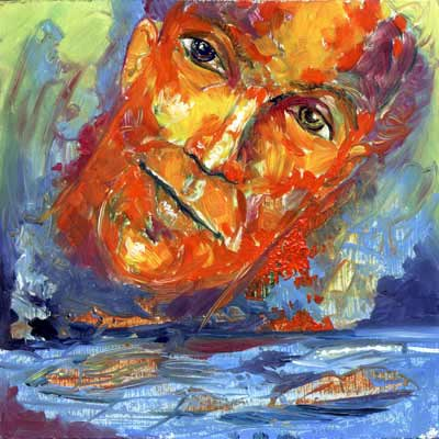 Positive Red - Oil Painting on HDF by artist Darko Topalski