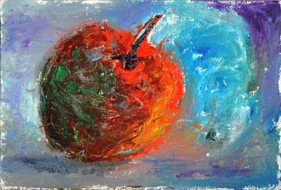 Rippening Shadow - Oil Painting on HDF by artist Darko Topalski