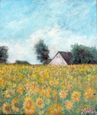 Farm House - Oil Painting on Canvas by artist Darko Topalski