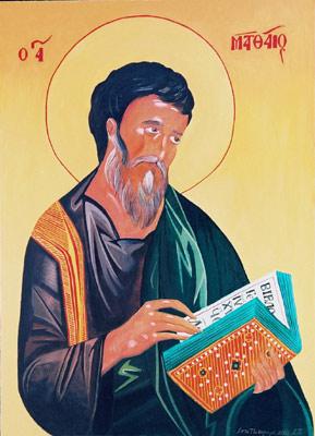 St. Mathias - Orthodox Icon by artist Darko Topalski