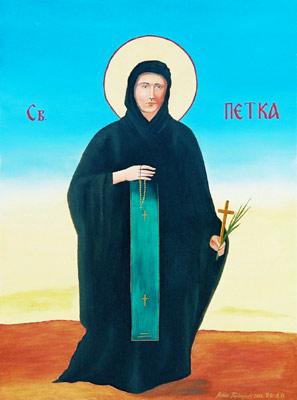 St. Petka - Orthodox Icon by artist Darko Topalski
