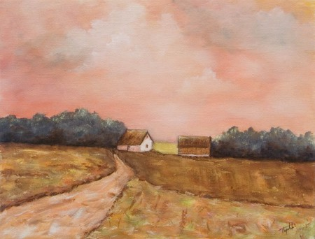 Fall Afternoon  - Oil Painting on Canvas by artist Darko Topalski
