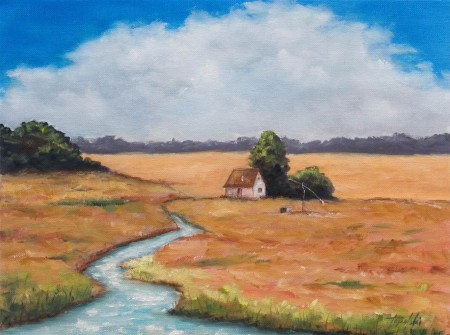 Meadows and Brooks - Oil Painting on Canvas by artist Darko Topalski