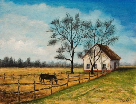 The Country - Oil Painting on Canvas by artist Darko Topalski