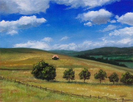 Zlatbor - Oil Painting on Canvas by artist Darko Topalski