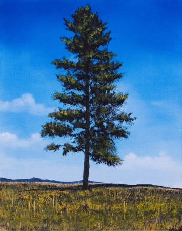Happy Tree - Oil Painting on Canvas by artist Darko Topalski