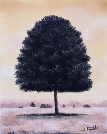 A Tree - Oil Painting on Canvas by artist Darko Topalski
