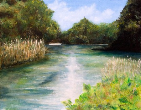 Green Rhapsody - Oil Painting on Canvas by artist Darko Topalski