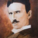 Nikola Tesla – Sepia Portrait – Oil Painting