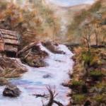 Water Mill - Oil Painting on Canvas by artist Darko Topalski