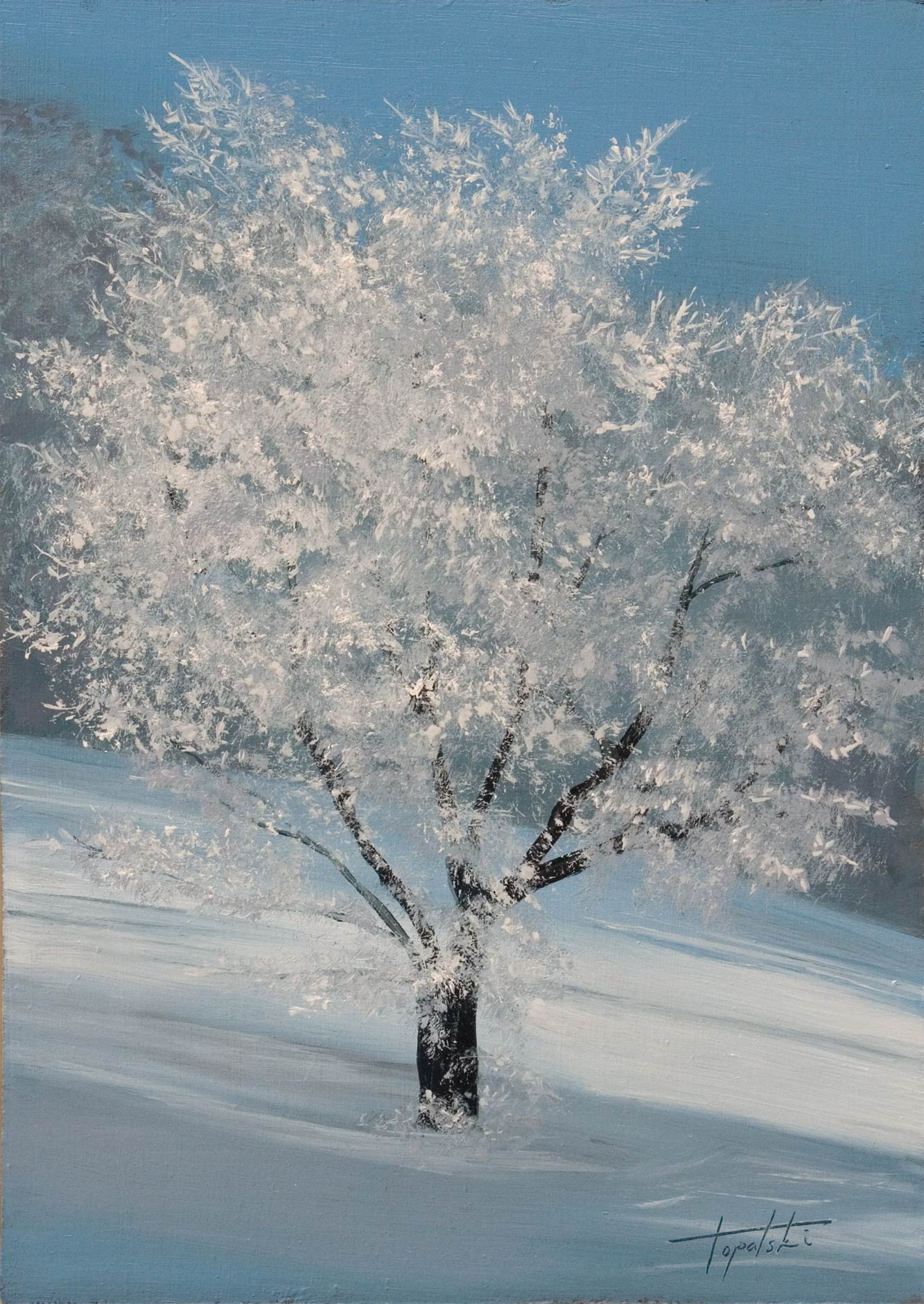Winter Tree Paintings - Fire Painter.com