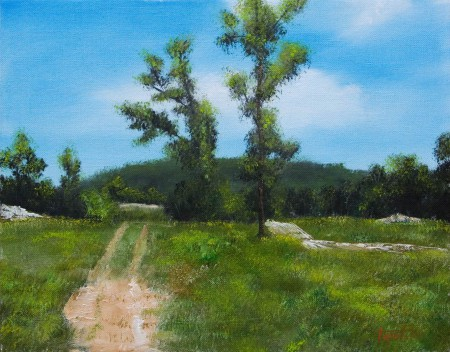 A Path... - Oil Painting on Canvas by artist Darko Topalski