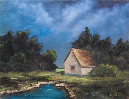 Dusk - Oil Painting on Canvas by artist Darko Topalski