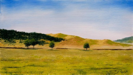 Zlatibor - Oil Painting on HDF by artist Darko Topalski