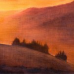 Warm Mountains Sunset – Oil Painting