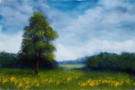 To the other Field - Oil Painting on HDF by artist Darko Topalski