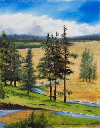 Zlatibor Hills - Oil Painting on Canvas by artist Darko Topalski