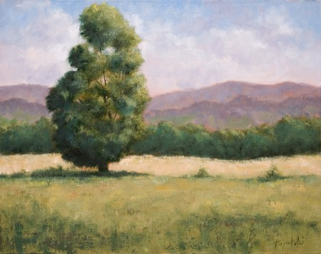 Yet Another Tree in a Field - Oil Painting on Canvas by artist Darko Topalski