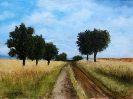 Country Road - Oil Painting on Canvas by artist Darko Topalski