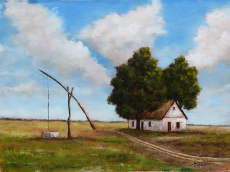 Old Farm House - Oil Painting on Canvas by artist Darko Topalski