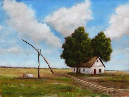 Old Farm House - Oil Painting on Canvas by artist Darko Topalski