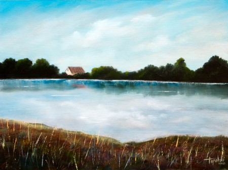 On the Lake - Oil Painting on HDF by artist Darko Topalski
