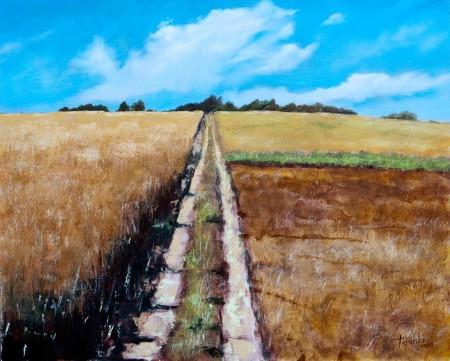 Through the Fields- Oil Painting on HDF by artist Darko Topalski
