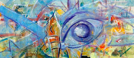 Eye of the Fish 2 - Oil Painting on HDF by artist Darko Topalski