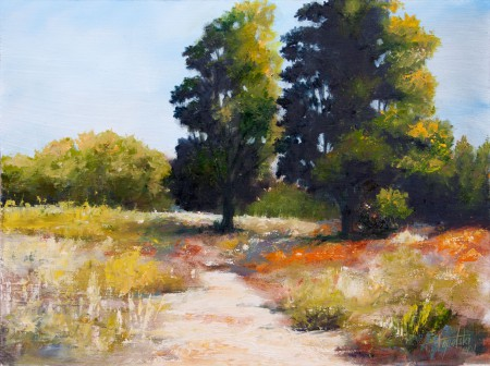 Through the Trees - Oil Painting on HDF by artist Darko Topalski