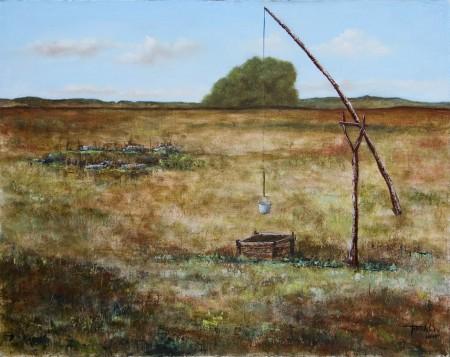 Abandoned Farm - Oil Painting on Canvas by artist Darko Topalski