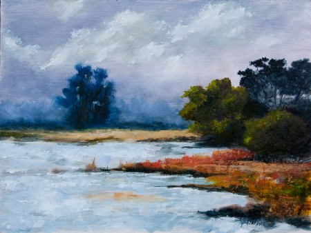 By the Lake - Oil Painting on HDF by artist Darko Topalski