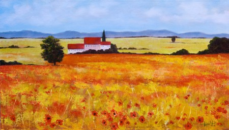 Tuscan Landscape - Oil Painting on Canvas by artist Darko Topalski