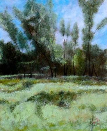 Forrest - Oil Painting on HDF by artist Darko Topalski