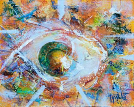 Eye of The Fish - Oil Painting on HDF by artist Darko Topalski