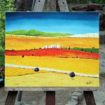 Provence - easel - Oil Painting on Canvas by artist Darko Topalski