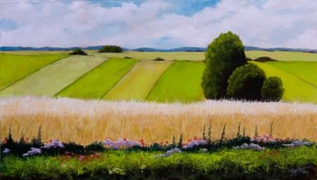 Fields - Oil Painting on Canvas by artist Darko Topalski