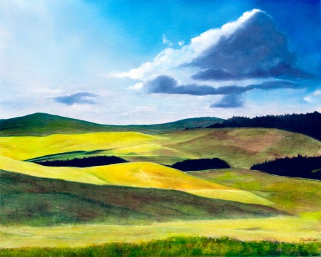 Zlatibor 2 - Oil Painting on HDF by artist Darko Topalski