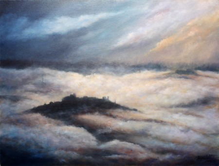 Fine Art - Misty Mountains - Original Oil Painting on Canvas by artist Darko Topalski