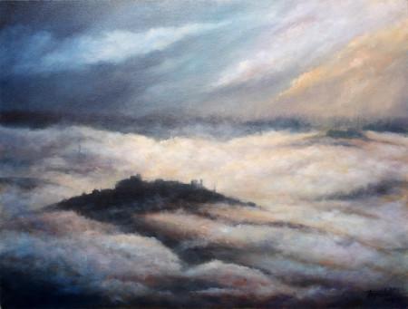 Fine Art - Misty Mountains - Original Oil Painting on Canvas by artist Darko Topalski