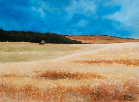Serbia - Oil Painting on HDF by artist Darko Topalski