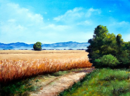 Country Road - Oil Painting on HDF by artist Darko Topalski