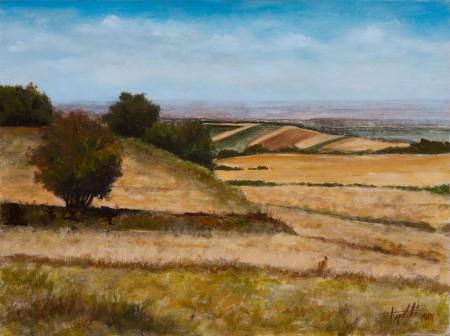 Stejanovci - Oil Painting on HDF by artist Darko Topalski